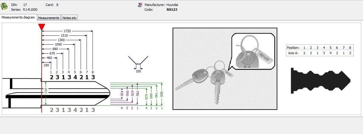 Ключ зажигания по коду / VIN